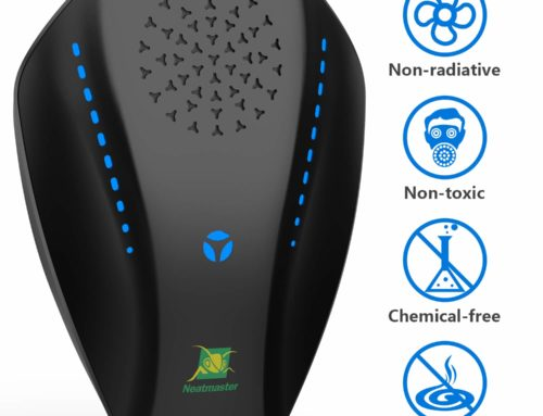 Dual Microchip Ultrasonic Pest Repeller Mice Control Variable Electromagnetic Insect Repellent Reject Rodent Bed Bug Mosquito Ant Fly Cockroach Spider and More, Black